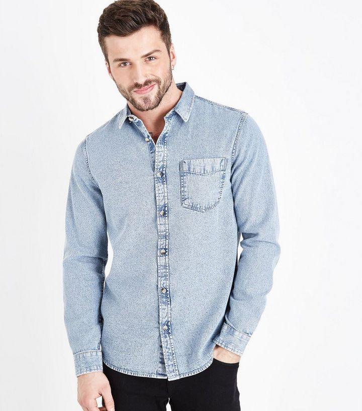 479db57dca3 Blue Acid Wash Denim Shirt