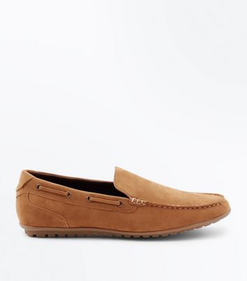 Tan Suedette Loafers New Look