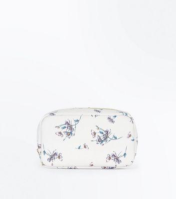 White Daisy Print Make Up Bag New Look