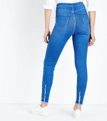 Tall Bright Blue High Waist Super Skinny Jeans New Look