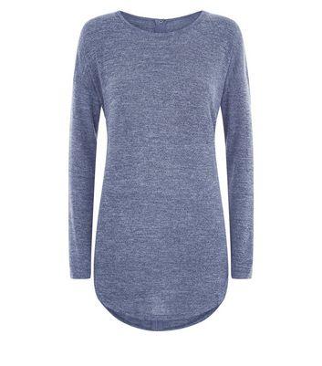 Blue Vanilla Blue Zip Back Long Sleeve Top New Look