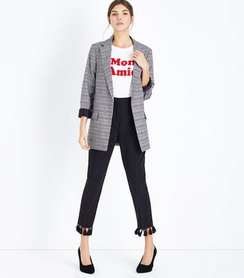 Black And Red Check Blazer New Look