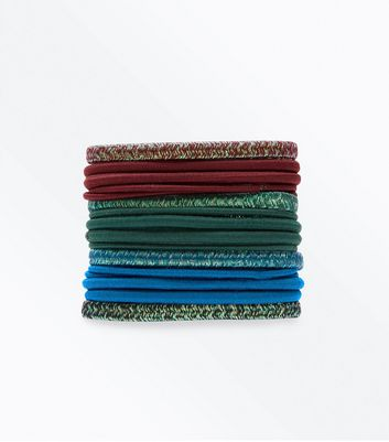 Multi Colour Hairbands Pack New Look