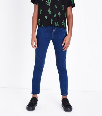 Teens Blue Super Skinny Jeans New Look