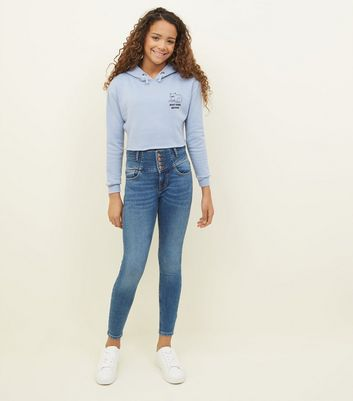 Girls – Blaue High Waist Skinny Jeans