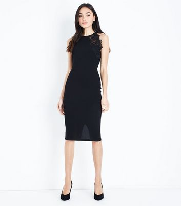 AX Paris Black Lace Trim Sleeveless Midi Dress New Look