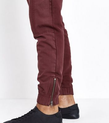 Dark Grey Contrast Panel Cuffed Joggers New Look