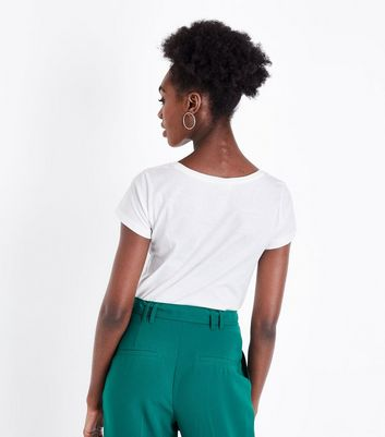JDY White Fais de Beaux Rêves Slogan T-Shirt New Look