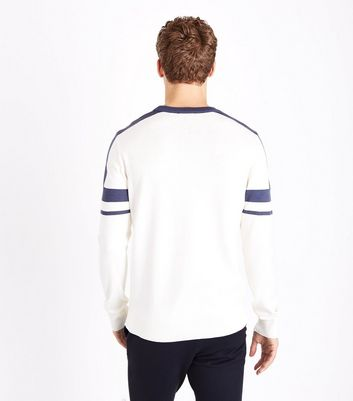 Off White Block Panel Jumper New Look