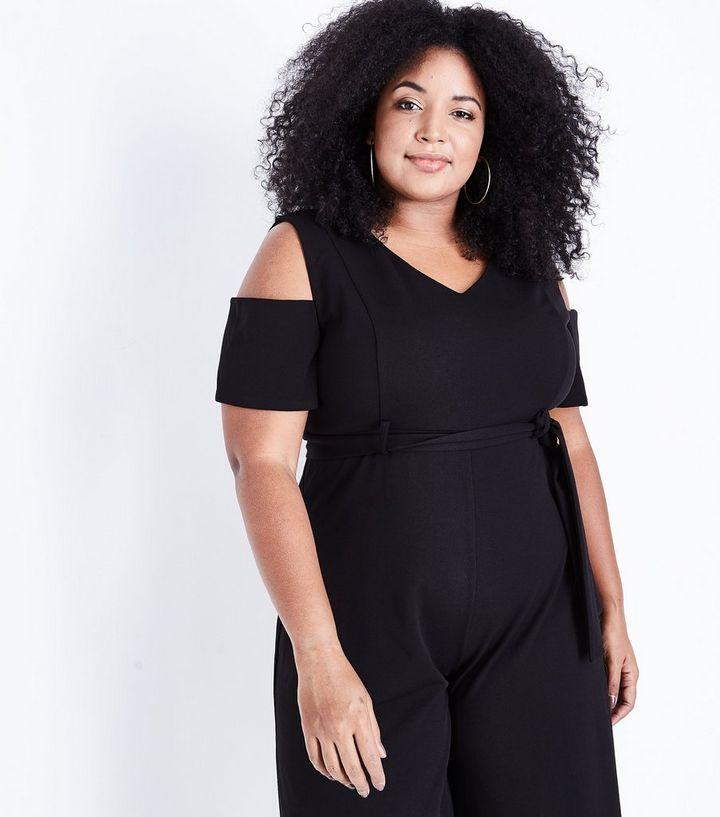 674e945ad9add3 Curves - Combinaison jupe-culotte noire à épaules dénudées Ajouter à la  Wishlist Supprimer de la Wishlist
