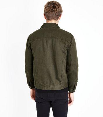 Khaki Denim Jacket New Look