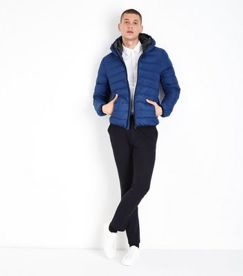 Blue Puffer Jacket New Look