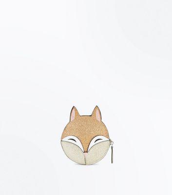 White Fox Coin Purse New Look