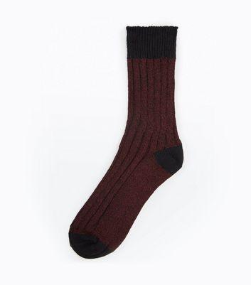 Burgundy Boot Socks New Look