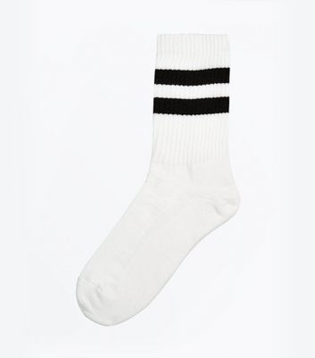 White Stripe Sports Socks