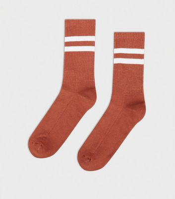 Rust Stripe Sports Socks