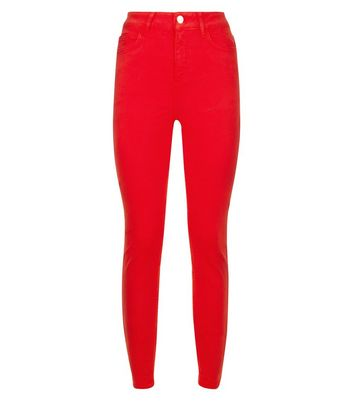 Red Skinny Jenna Jeans New Look