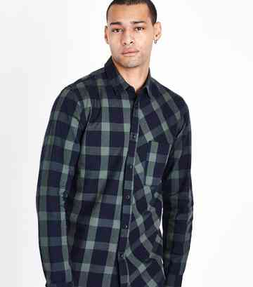 Green Buffalo Check Shirt