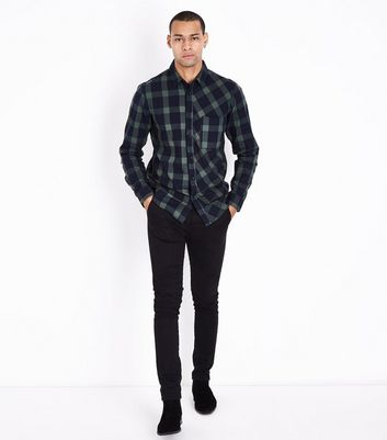 Green Buffalo Check Shirt New Look