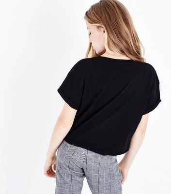 Teens Black On Point Slogan T-Shirt New Look