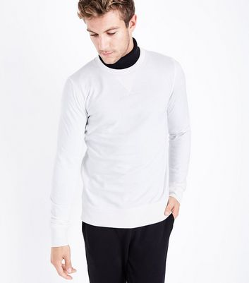 Cream Crew Neck Sweatshirt New Look