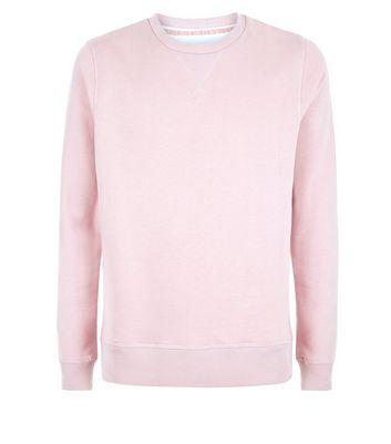 Pink Crew Neck Sweatshirt New Look