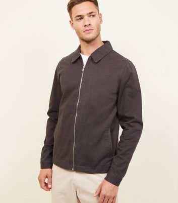 Dark Grey Zip Through Shacket