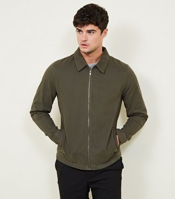 Khaki Zip Through Shacket