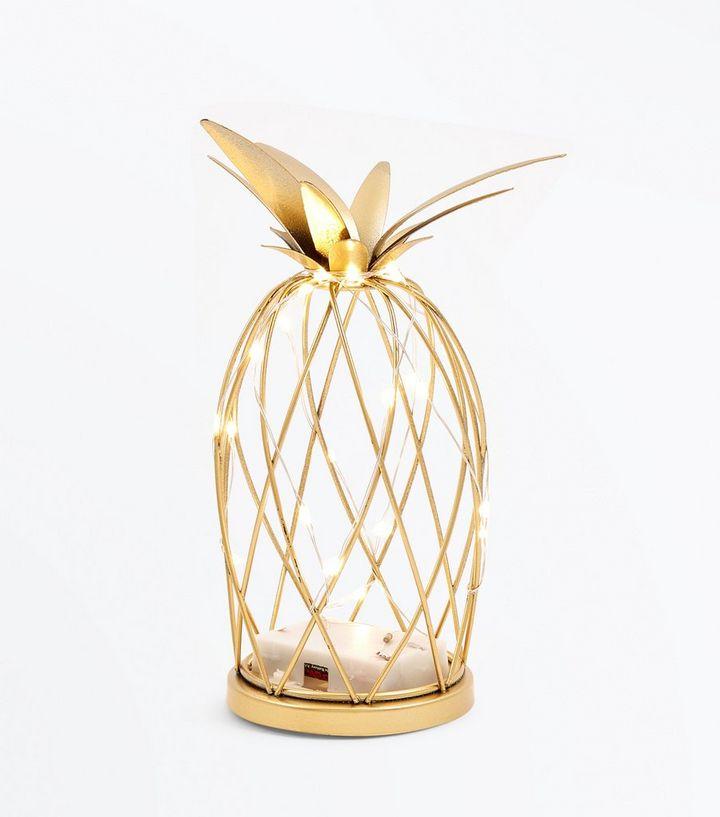 Gold Pineapple Fairy Light Cage  d88e5df9d4