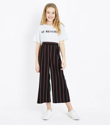 Teens White Shirred Hem Au Revoir Slogan T-Shirt New Look