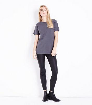 Dark Grey Cotton T-Shirt New Look
