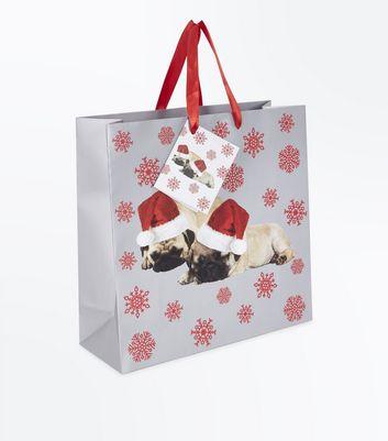 Christmas Pug Gift Bag New Look