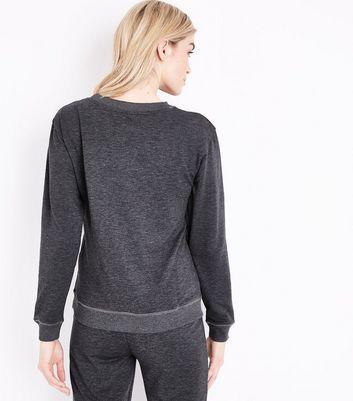 Dark Grey Believe In Yourself Unicorn Sweatshirt New Look