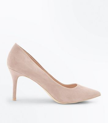 Light Brown Suedette Pointed Court Shoes New Look