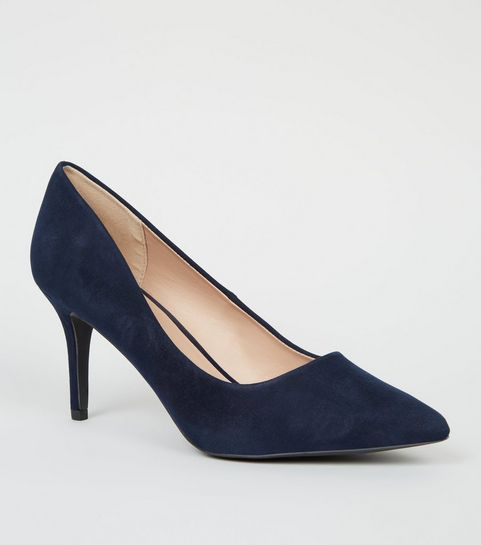 Navy Suedette Pointed Court Shoes · Navy Suedette Pointed Court Shoes ... d4bee6c81a99