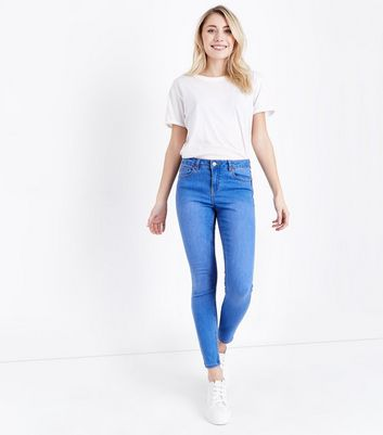 Petite Bright Blue Super Soft Super Skinny Jeans