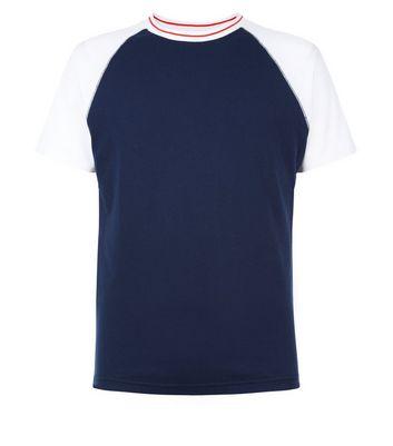 Navy Raglan Sleeve T-Shirt New Look
