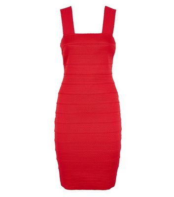 Red Bandage Bodycon Dress New Look