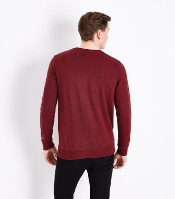 Red Textured Sweatshirt New Look