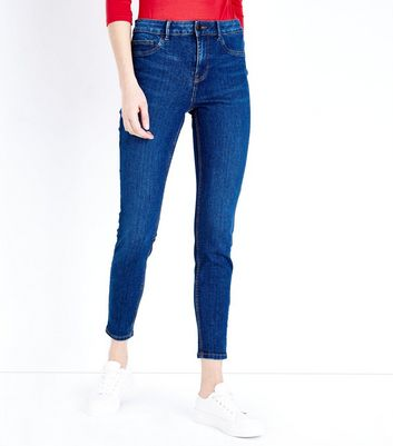 Petite Blue Mid Wash Skinny Jenna Jeans New Look