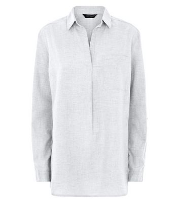 Grey Drop Arm Overhead Shirt New Look