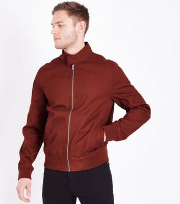 Rust Harrington Jacket New Look