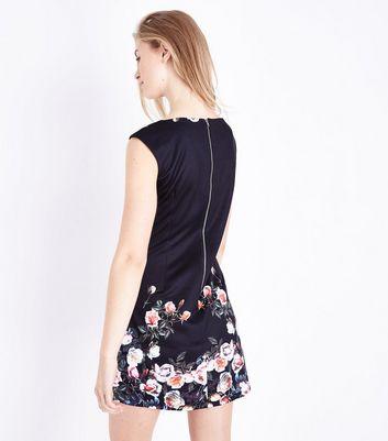 Mela Black Floral Print Sleeveless Dress New Look