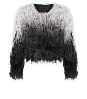 Urban Bliss Black Two Tone Faux Fur Jacket New Look