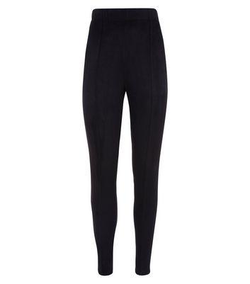 Black Suedette Leggings New Look