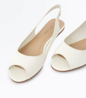 WeißeFlache Peeptoe Schuhe Entfernen Artikeln Mit Speichern Von Gespeicherten Fersenriemen Für Später n0ymN8vwO