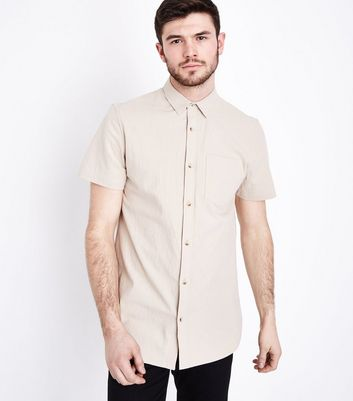 Stone Textured Short Sleeve Shirt