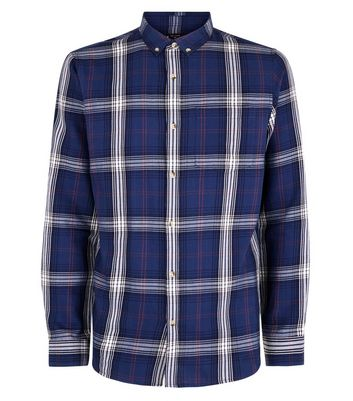 Blue Check Long Sleeve Shirt New Look