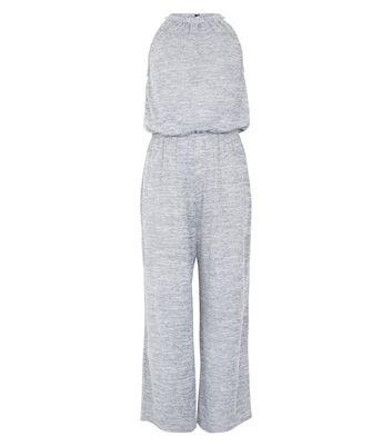 Teens Grey High Neck Jumpsuit New Look