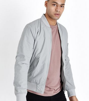 Pale Grey Bomber Jacket